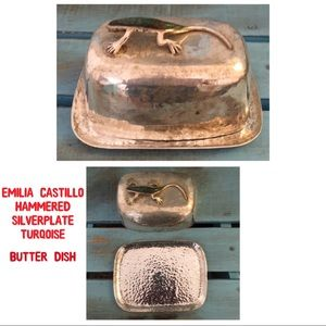 Emilia Castillo Vintage Covered Butter Dish